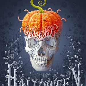 Create a funny and creepy halloween card in Photoshop