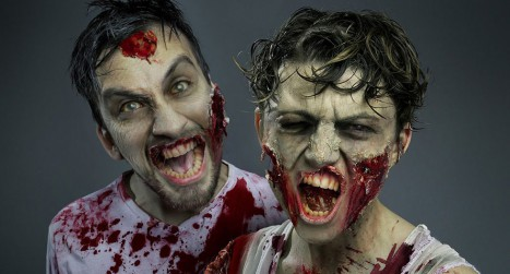 Gruesome Zombie Special FX Makeup in Photoshop
