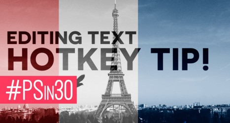 Text Editing Hotkey in Photoshop