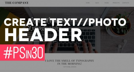 Create a Website Text Header in Photoshop