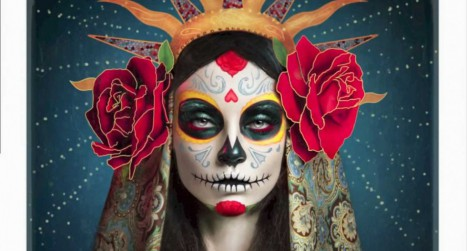 Día De Los Muertos Retouching and Painting Speed Art in Photoshop