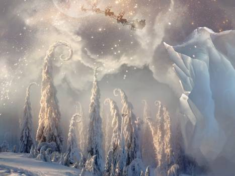 create a magical christmas scene in photoshop