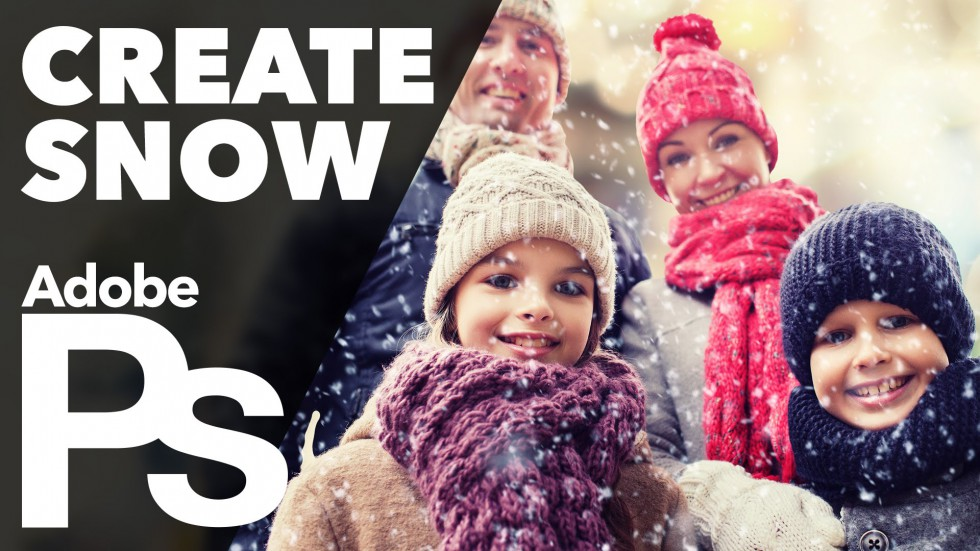 How to Create Snow in Photoshop (Custom Brush)