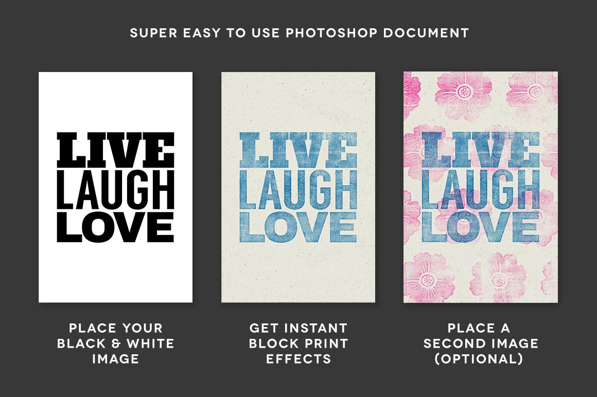 Download WoodBlock Printing Press Kit Premium Photoshop PSD