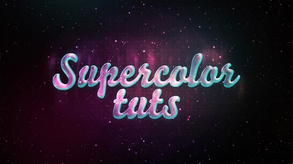 Create a glossy neon text effect in Photoshop